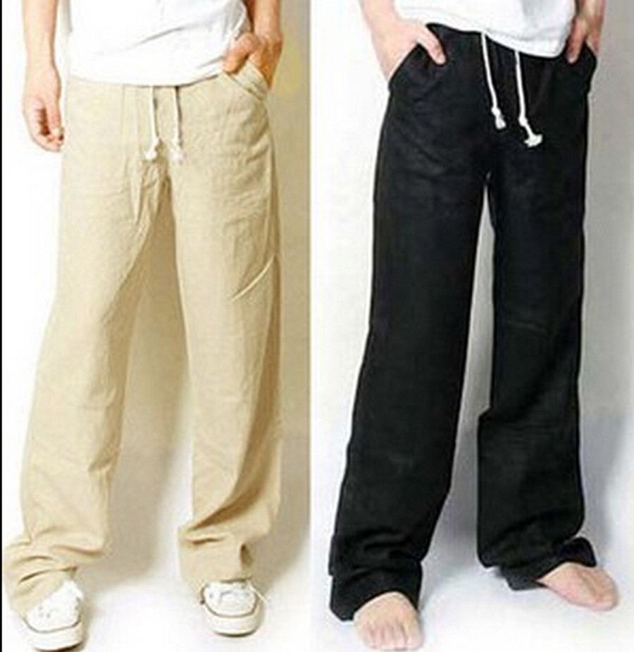 Men's casual linen trousers. Do off-duty in style with our fabulous range of men's casual trousers. Choose from natural linen designs, chinos, classic cargos and dashing cords, laid-back options or the perfect pair for 'smart-casual' - our wide collection of colours and cuts will fashionably fit the bill.