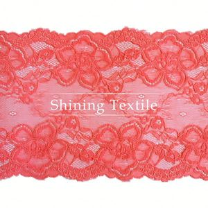 Nylon Spandex With Rayon Stretch Embroidered Mesh Lace For Lingerie