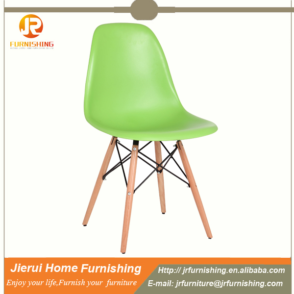 wholesale PP plastic chair with wooden legs dinning chair/leisure chair