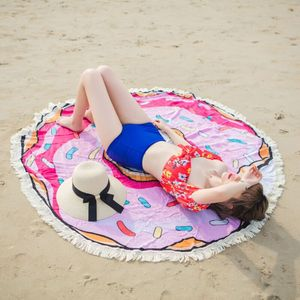 Round beach towel softtextile for cotton or microfiber