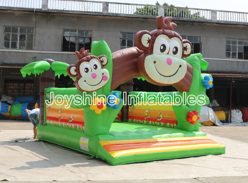 Childhood Inflatable Monkey Jumper Bouncer Kids Children Outdoor Jumping Zoo Bouncy Castle For Sale