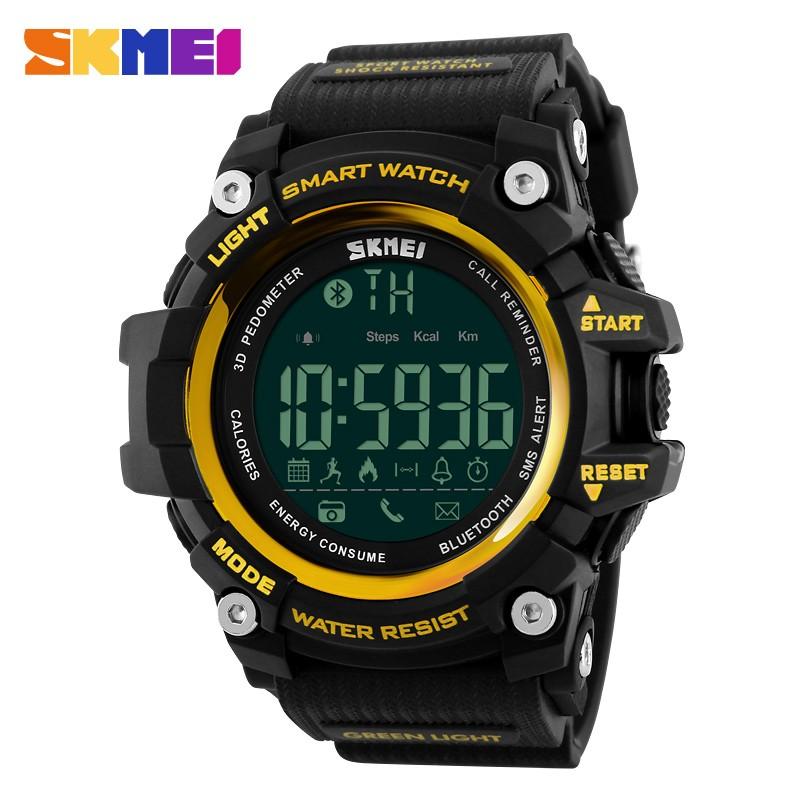 SKMEI 1227 Brand Men Digital Wristwatches Smart Watch Big Dial Outdoor Sport Watches EL Backlight Waterproof smart Man Clock фото