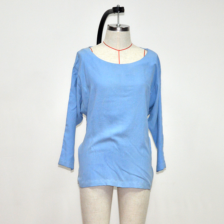 Musim Panas Ukuran Plus Biru Tunik Satin Dress
