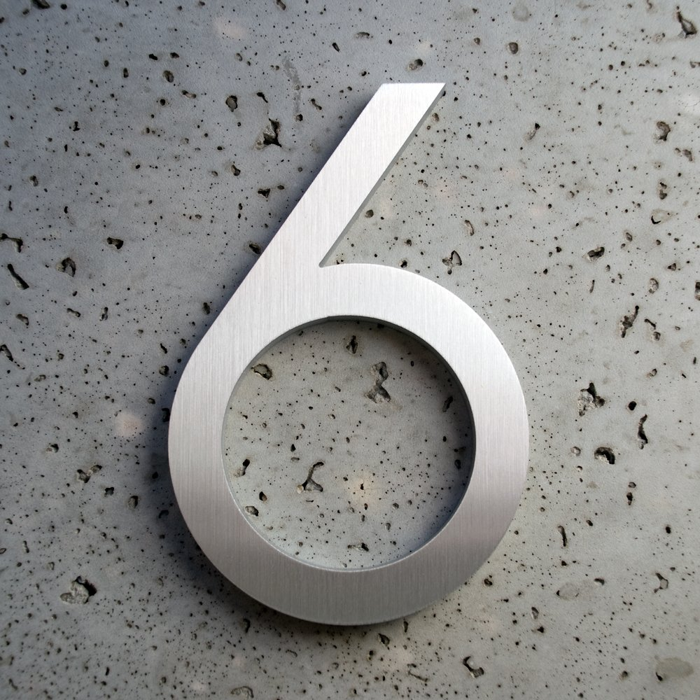 Get quotations · modern house number aluminum modern font number six 6 8 inch