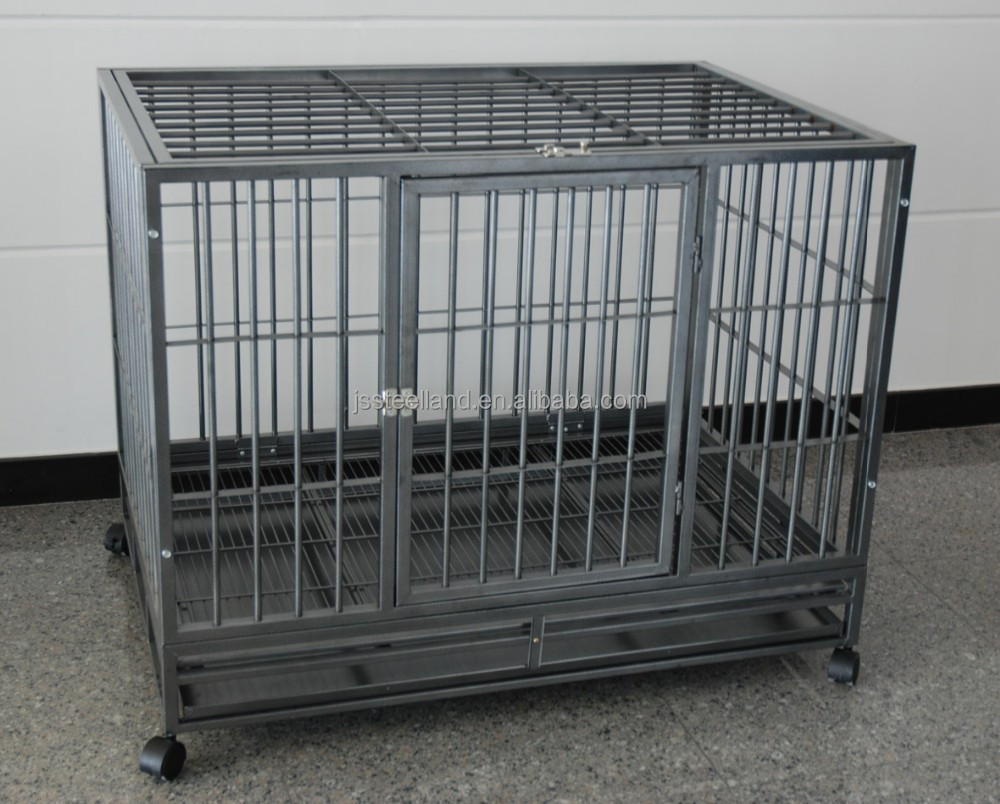 new color heavy square tube folding pet kennel