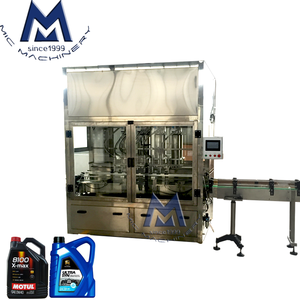 3 Years Quality Assurance Automatic Linear Servo-Driven Piston Engine Oil Lubricant Fluid Filler / Filling Machine Line