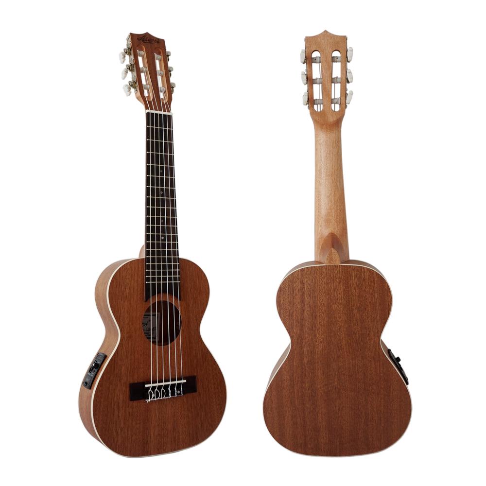 Aiersi OEM electric wholesale guitar ukulele Mini travel guilele фото