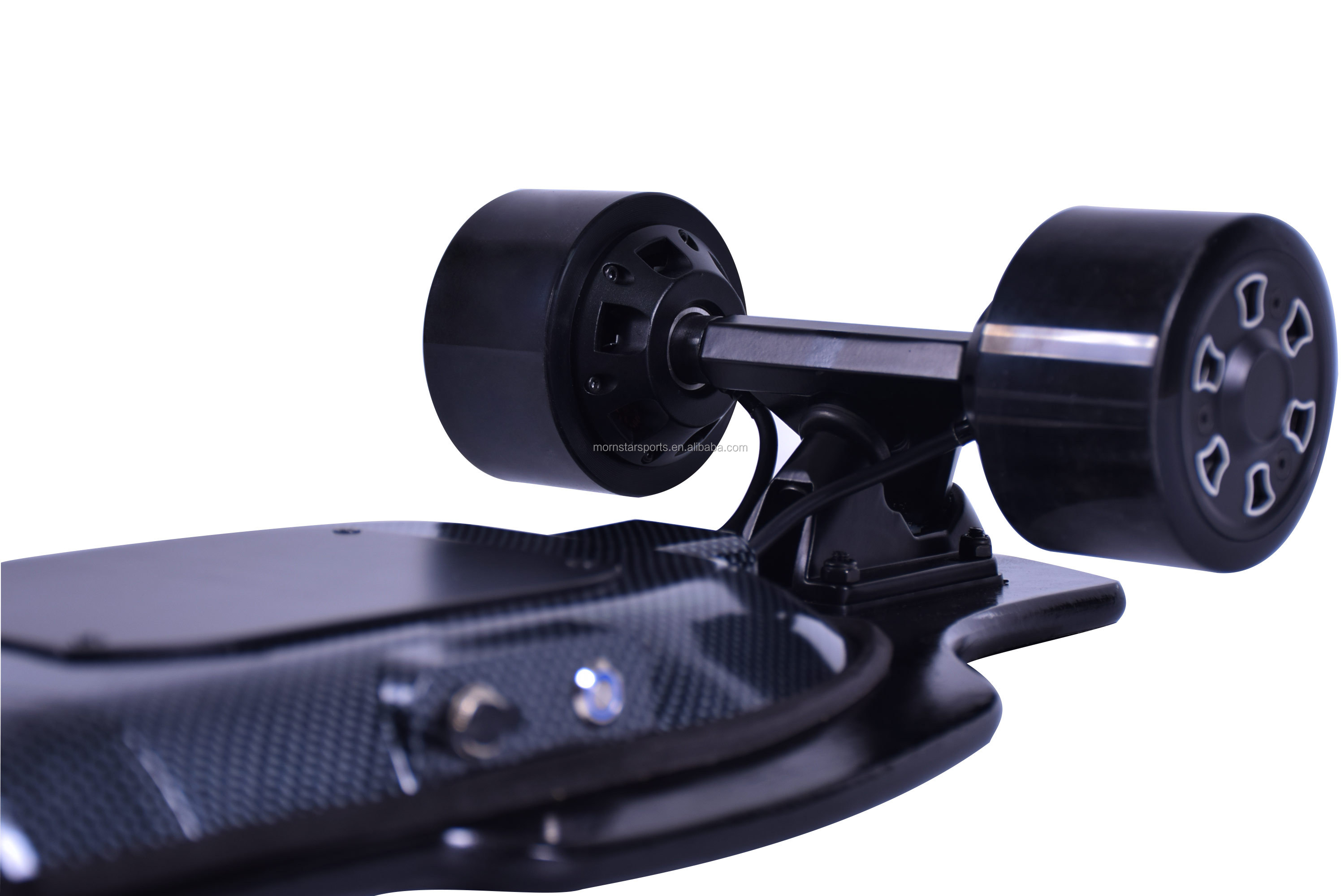 Weight sensing posture controlled glass fiber deck weightlight electric skateboard