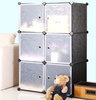 New designs living room furniture storage bookcase black cube storage unit systems FH-AL0023-6