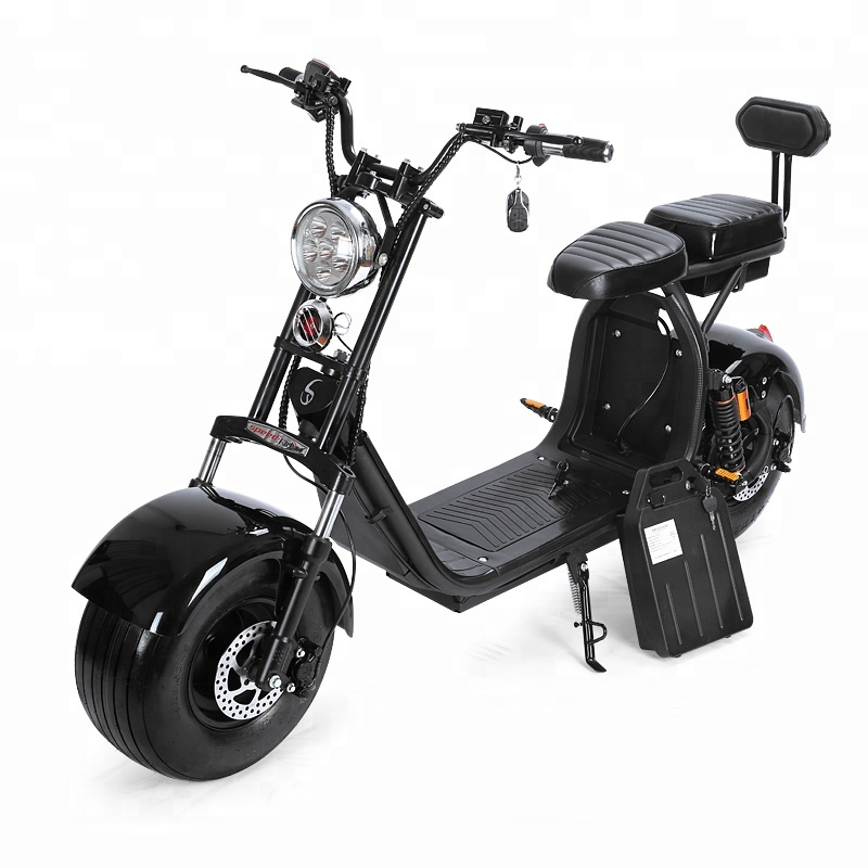 2018 New Product big tire electric scooter 2 wheel citycoco scooter 2 seat