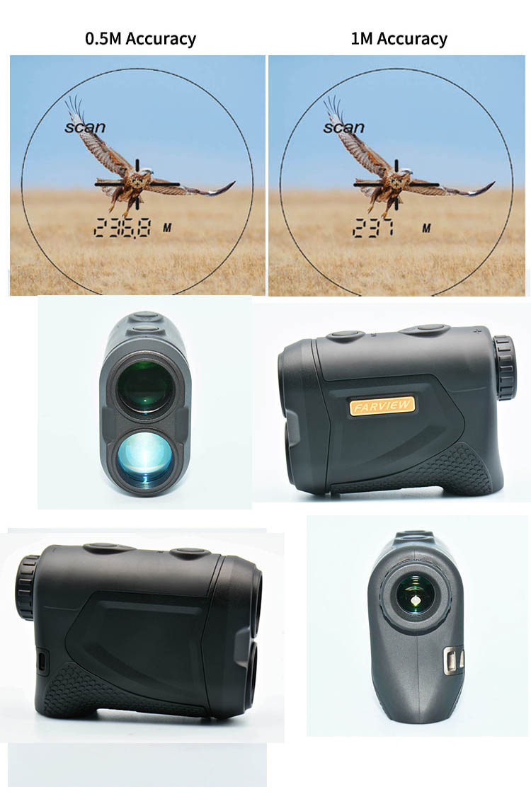 Klub Golf Tahan Air Pengukur Jarak Laser 900y Golf Range Finder