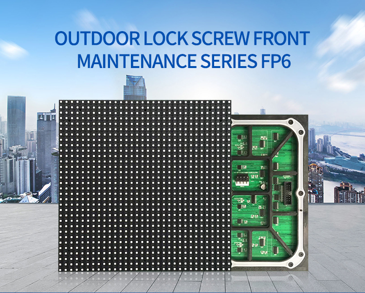 Outdoor FP6 Front Service Open Led Commercial Advertising Screen Display on Sale
