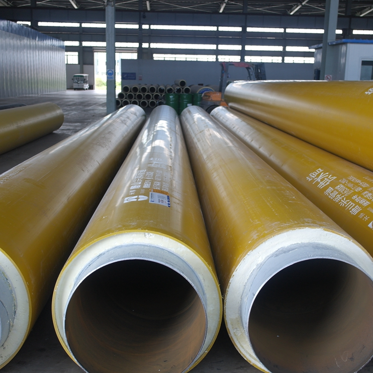 Multifunctional yellow color large diameter pipe underground direct buried pre insulated oil pipeline