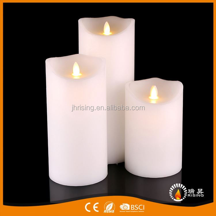 European Modern OEM quality vogue moving candle large square led flameless candles
