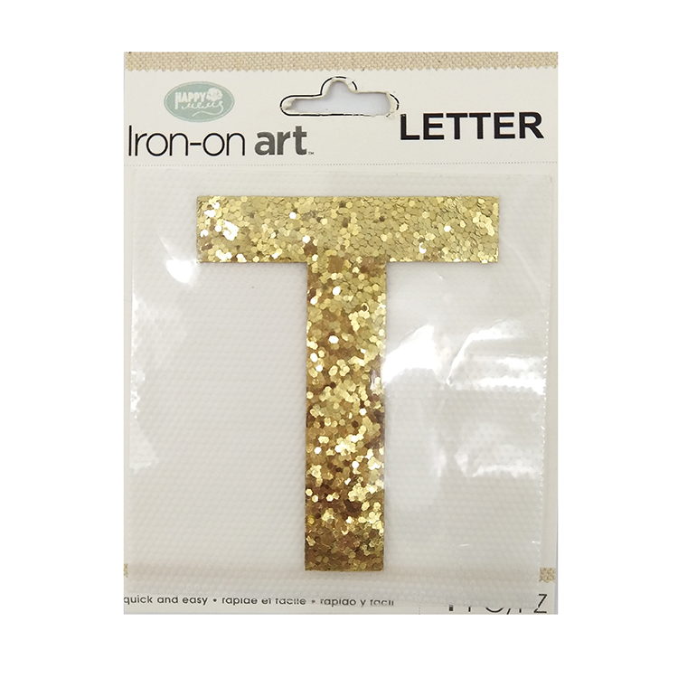Bulk 55-65mm A-Z Letters Glitter Iron On Patch Heat Transfer Applique For Clothes
