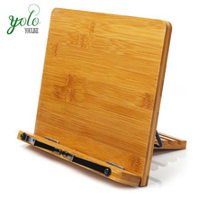 Bamboo Wood Adjustive Reading Desk Desktop Book Stand