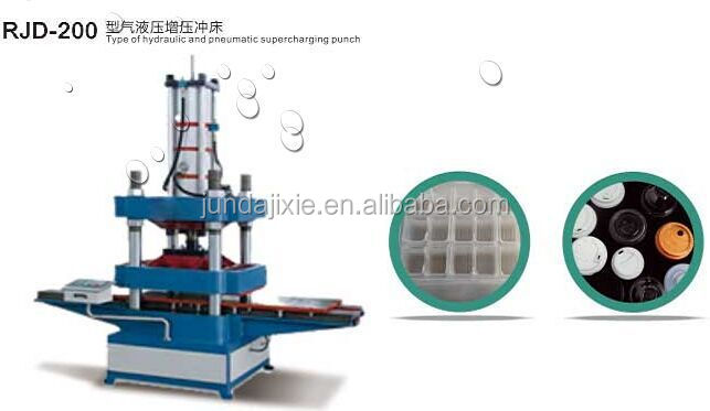 plastic hole punch and product edge cutting machine