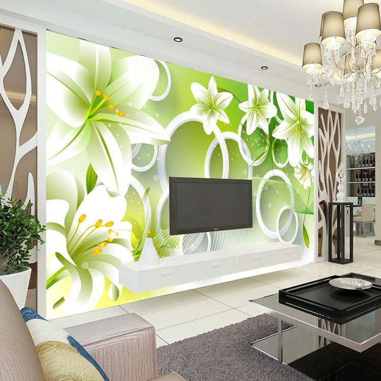 Wallpaper Home Decoration: Cartoon Wall Mural Customize Photo Wallpaper Forest & Wolf
