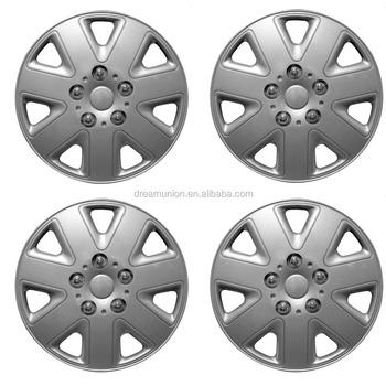 14 Set Of Car Wheel Trims Hub Caps Plastic Covers 4 Silver Universal