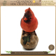 Special vivid design resin motion sensor singing red robin bird ornaments standing on stone