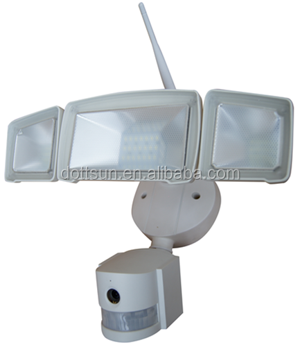 Low power consumption 3-head 20-30W 800-2000LM security lights with camera motion sensor