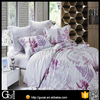 100% egyptian cotton bed sheet sets flower printed luxury european bed sheet set