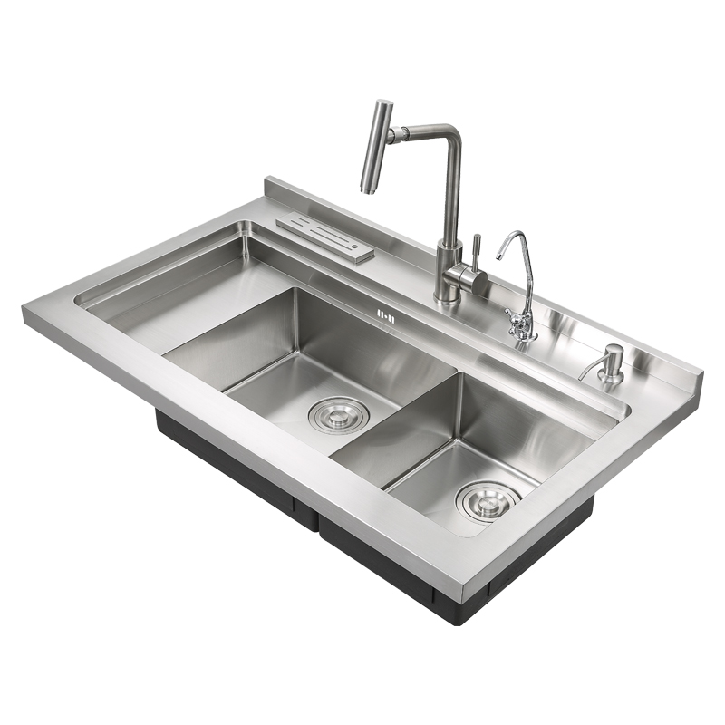 Zhongshan Aifia Abovemount Double Bowl Stainless Steel Sink With