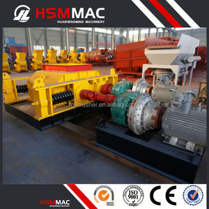 HSM Stone Coal Double Roller Crusher Machine For Road Construction