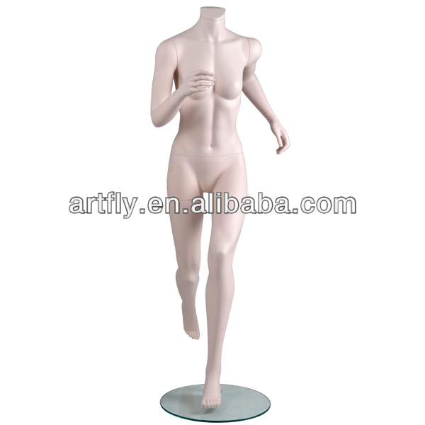 Headles female running sports mannequins