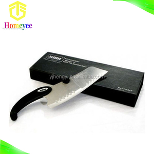 High quality Germany kitchen knife freezing knife with Black ABS handle