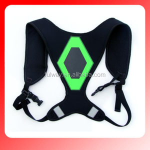 EL reflective adjustable running safety vest