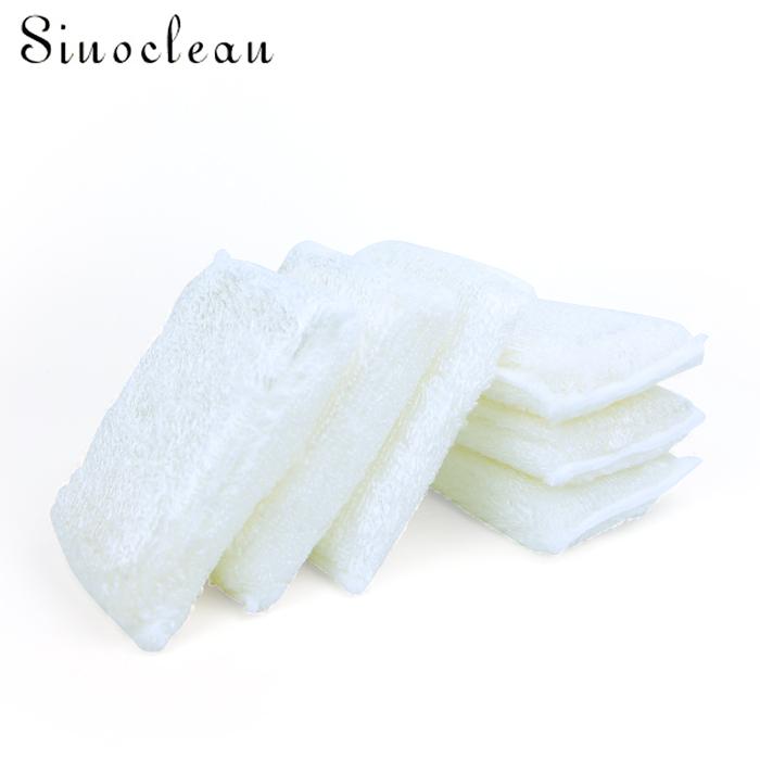 Eco-friendly bamboo fiber dishwasher scrubber sponge 4pcs/pack