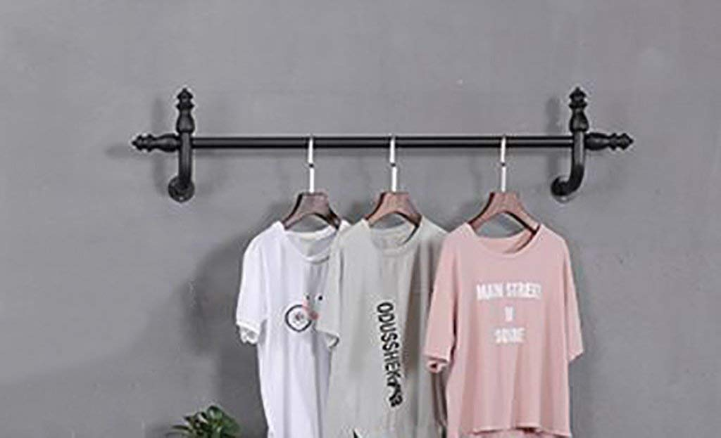 JHYMJ Coat Hook Shelf Wall-Mounted Clothing Shop Display Racks Clothing Racks Children 's Clothing Store Wall - Mounted Shelves (Size : 120cm)