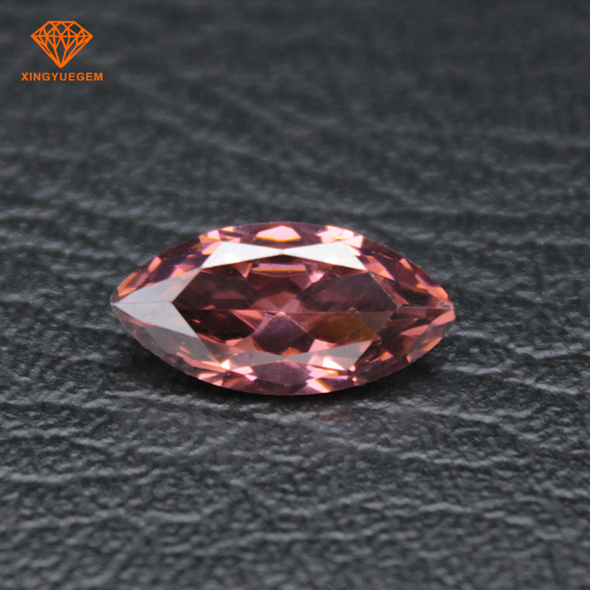 Fancy Marquise shape synthetic pink loose cubic zirconia diamond for jewelry