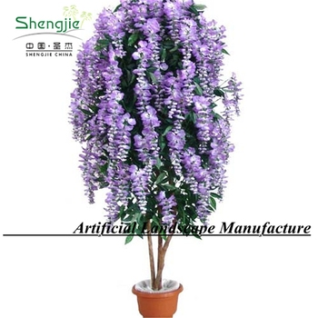 Artificial Wisteria Tree Purple Color High Quality Indoor Ornament Flower