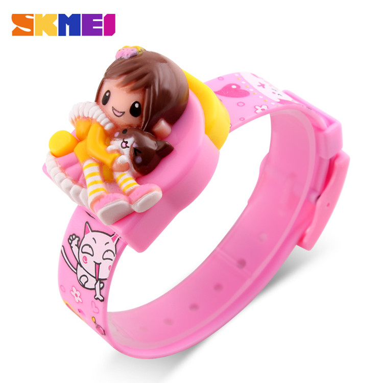 Promotional gift kids watches for girls pink skmei digital watches for kids фото