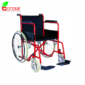 Steel lightweight folding portable wheelchairs for disabled