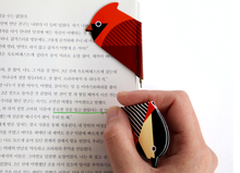 Flat ball point pen bookmark ball pen for school use