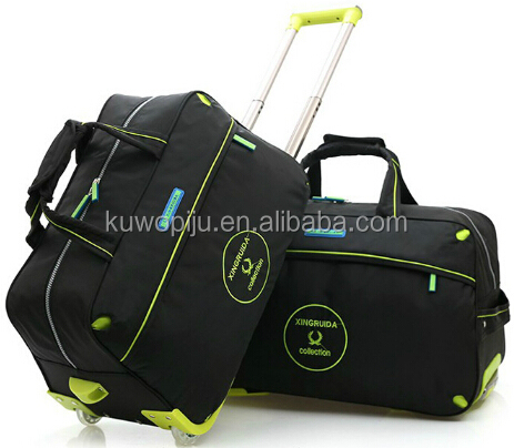 washer nylon travel trolley luggage bag carry on trolley bag