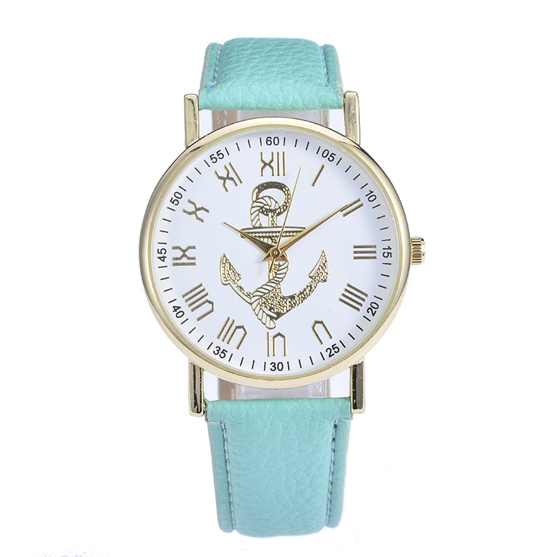 fashion leather watch simple women watches oem custom stainless steel back watch
