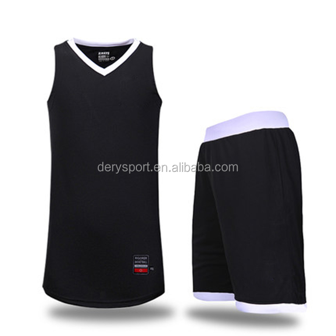 a320e77c86d Mens Breathable Plain Black Basketball Jersey Style For Active Team ...