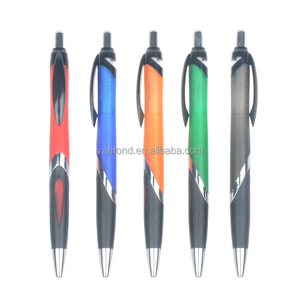 Office Order Sample Free Plastic Ball Pen with Logo and Black Grip