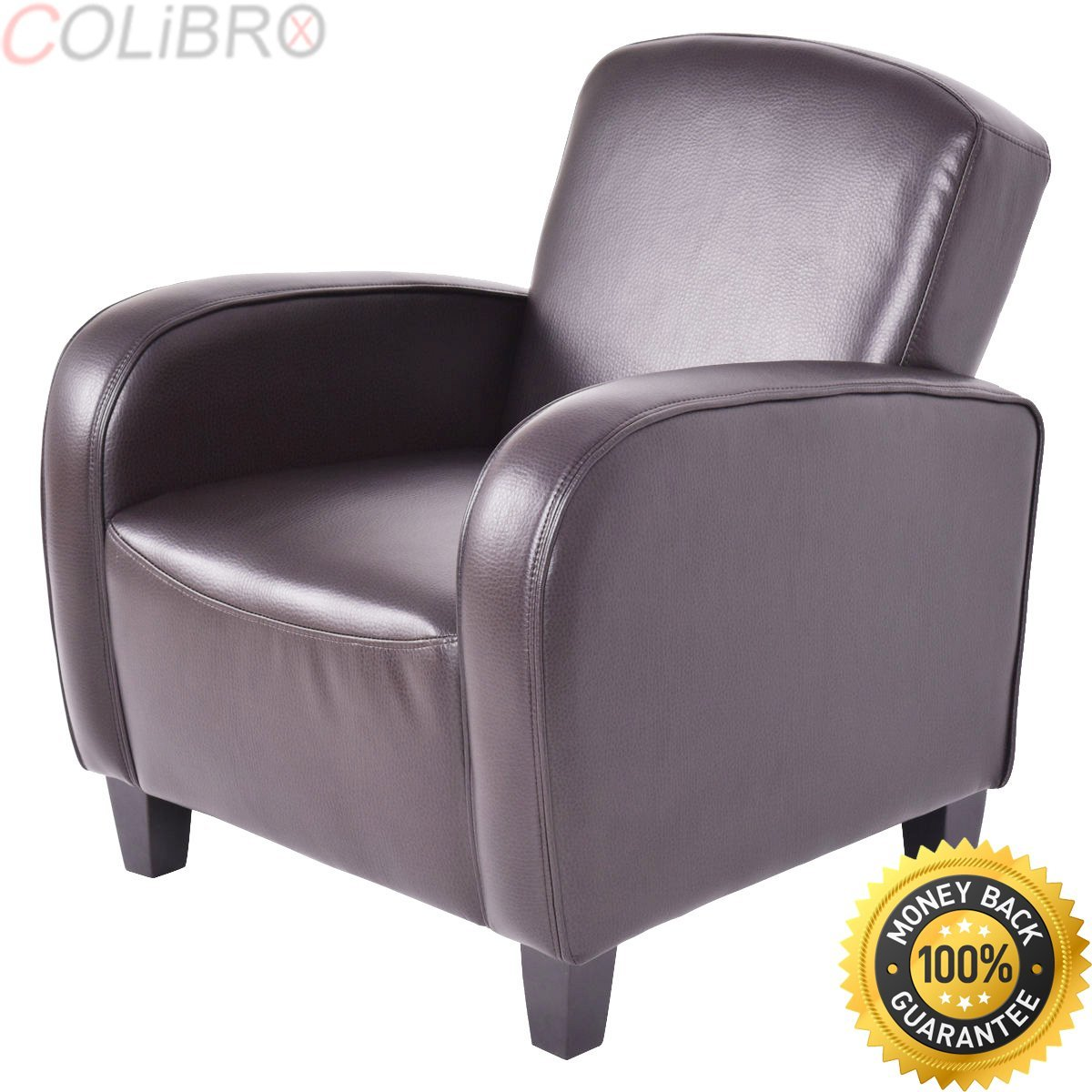 COLIBROX--Modern Accent Arm Chair Single Sofa Seat Leisure Living Room Furniture Brown. modern accent chairs for living room. modern accent chairs clearance. accent arm chairs.accent chairs with arms.