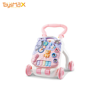 2019 Beauty color Educational Baby Car, Baby Walker, multi-functional Baby Trolley