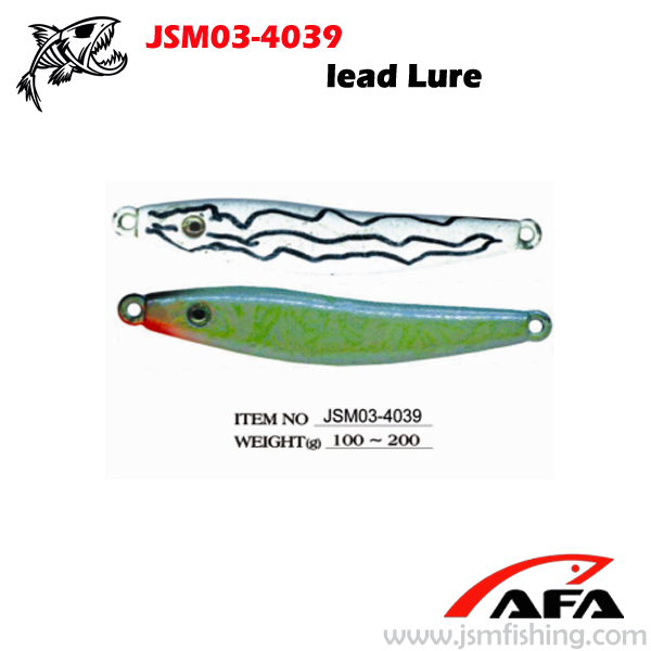 wholesale slow pitch jig, lead lure, fishing lure JSM03-4039