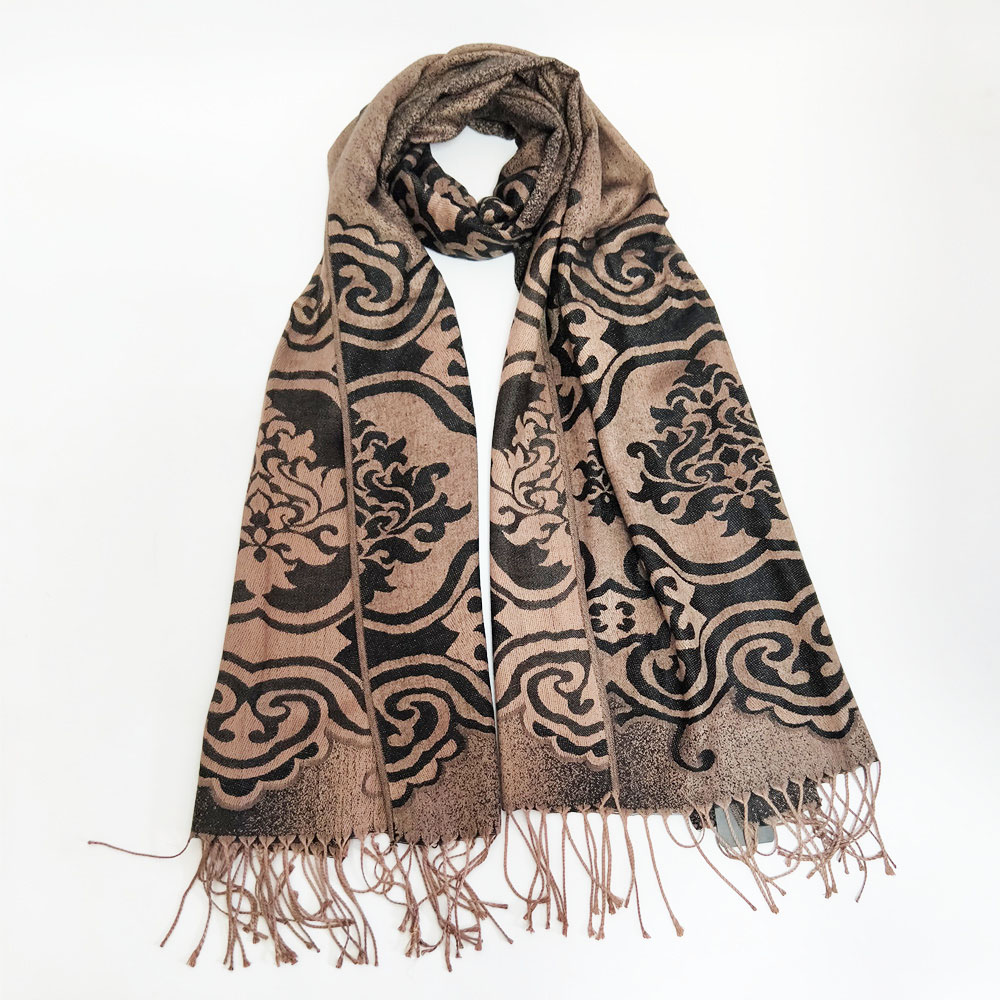 2018 hot selling elegant national long pashmina shawls scarf  with tassels direct selling  customized