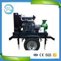 portable high temperature diesel water oil pump mounted on trailer