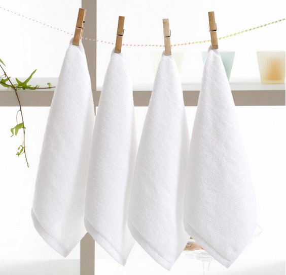 Square High Quality Wholesale Luxury Hotel 100 Cotton Washcloth White Towels
