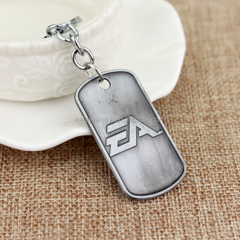 New BF4 Battlefield 4 Logo Game Themed Dog Tag Metal Pendant Keychain