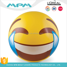 Custom Logo PVC Inflatable Giant Emoji Beach Ball